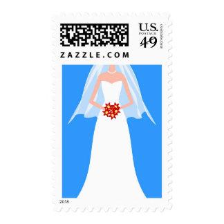 White Wedding Gown Postage