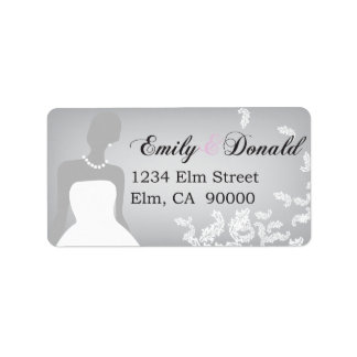 White Wedding Gown series - Address Labels