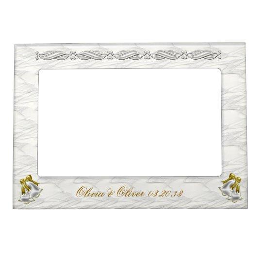 White Wedding Magnetic Frame