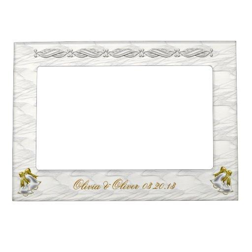 White Wedding Magnetic Photo Frame