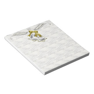 White Wedding Memo Pad