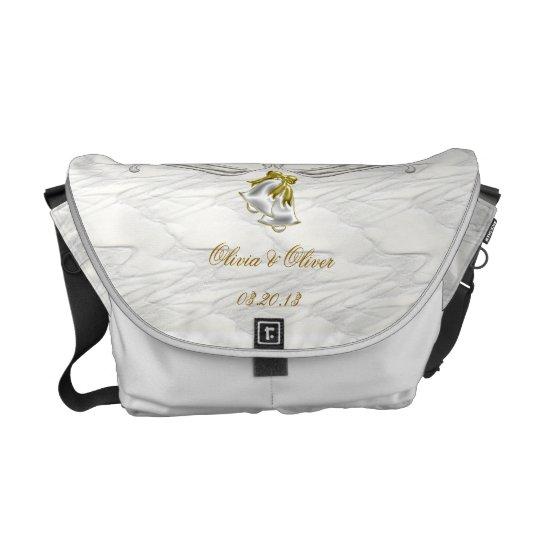 White Wedding Messenger Bag