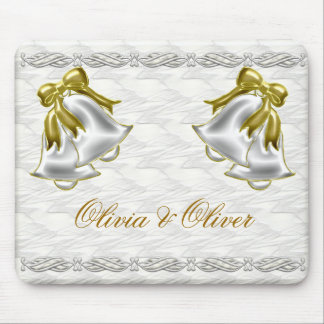 White Wedding Mouse Pad