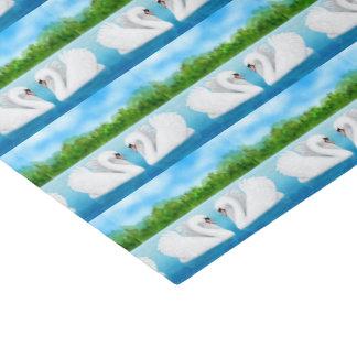 White Wedding Mute Swans Tissue Paper