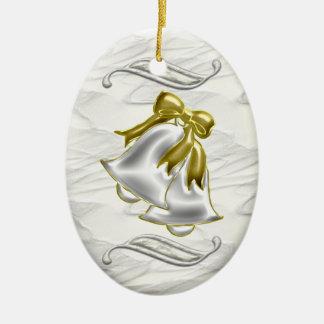 White Wedding Ornament