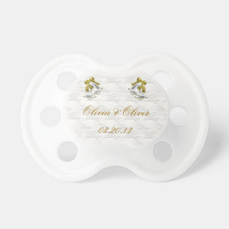 White Wedding Pacifiers
