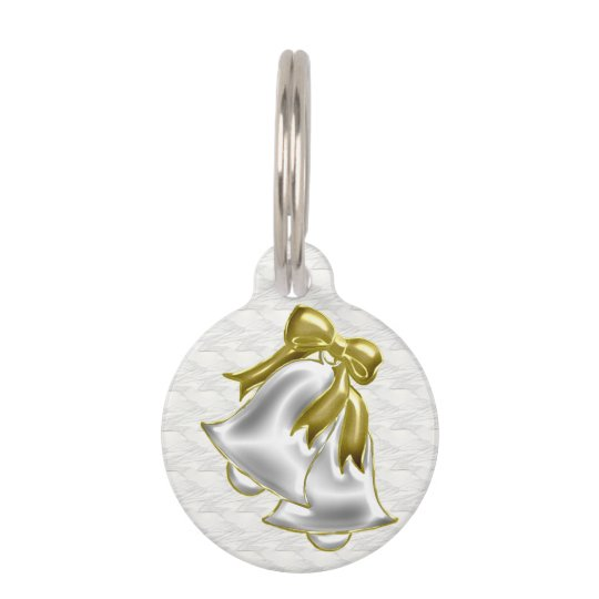 White Wedding Pet ID Tag