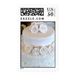 White wedding postage