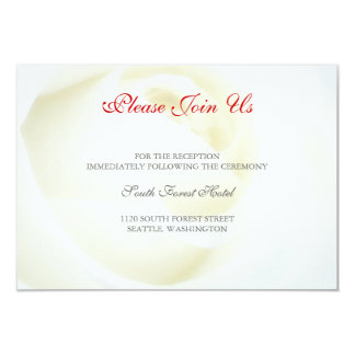 White Wedding Reception Card