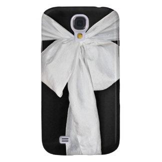 White wedding ribbon galaxy s4 case