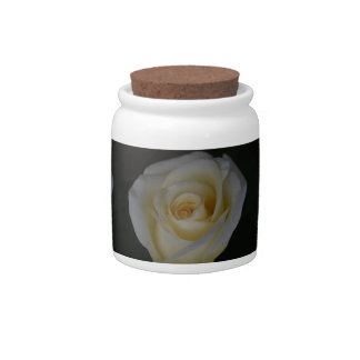 White wedding rose and its meaning candy jar