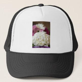 White Wedding Roses Trucker Hat