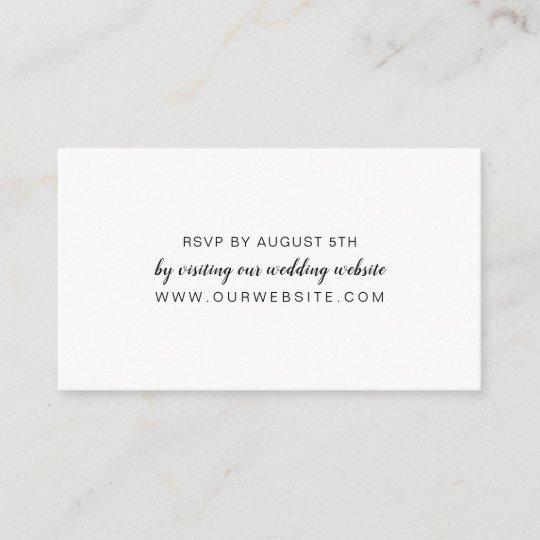 Wedding Rsvp Website.White Wedding Rsvp Online Card