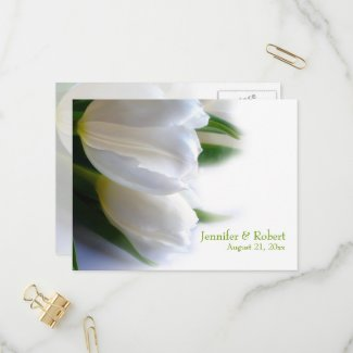 White Wedding RSVP Postcard