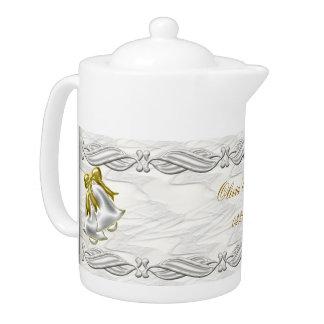 White Wedding Teapot