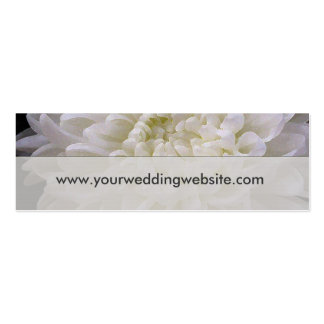 White wedding website cards Double-Sided mini business cards (Pack of 20)