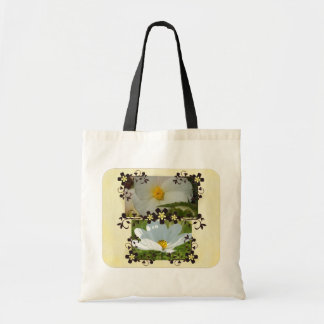 White weeding canvas bags