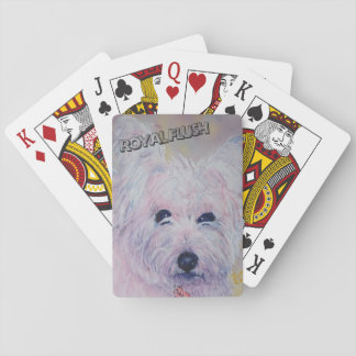 WHITE WEST HIGHLAND TERRIER PLAYING CARDS