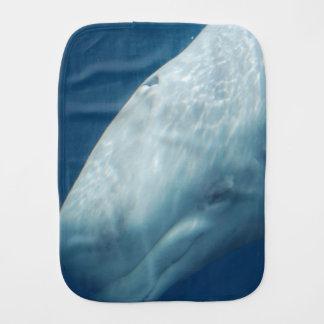 White Whale Baby Burp Cloth