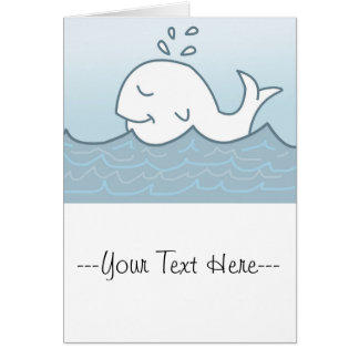 White Whale In The Sea, Illustration Card