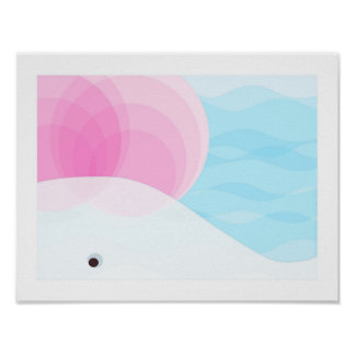 White Whale Nursery Decor | Pink, White and Blue