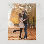 """WHITE WHIMSICAL SCRIPT SAVE THE DATE POSTCARD<br><div class=""""desc"""">WHIMSICAL SCRIPT SAVE THE DATE POSTCARD</div>"""