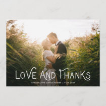 White Whimsical Typography | Thank You Photo