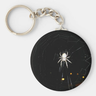 white widow basic round button keychain