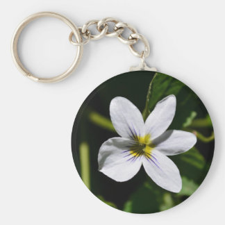 White Wild Flower in the Sandia Mountains Key Chains