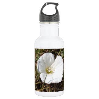 White Wild Flower 18oz Water Bottle