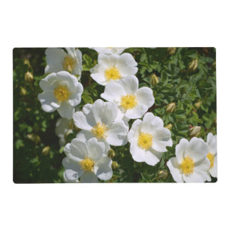 White Wild Roses Placemat