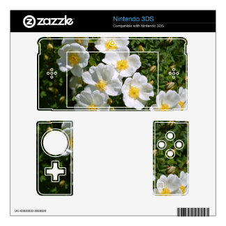 White Wild Roses Decals For The 3DS