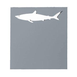 white wild shark - sea animals notepad