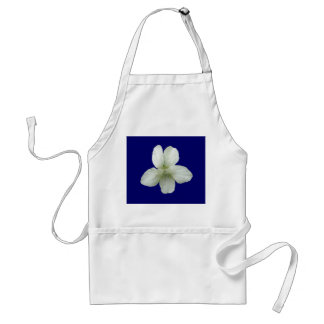 White Wild Violet Coordinating Items Adult Apron