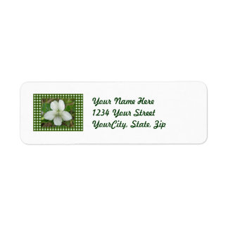 White Wild Violet Coordinating Items Label