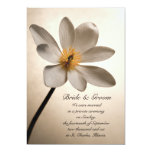 White Wildflower Marriage / Elopement Announcement
