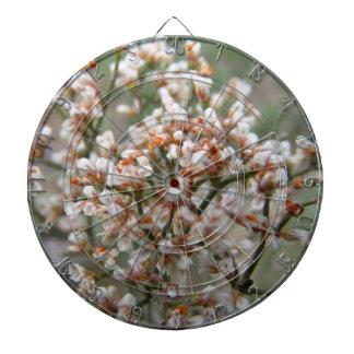 White Wildflowers Dart Boards