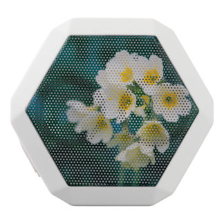 White Wildflowers On A Teal Background White Boombot Rex Bluetooth Speaker