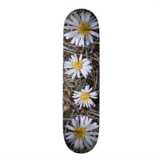 White Wildflowers Skateboard
