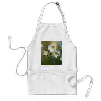 white windflowers in a natural display aprons