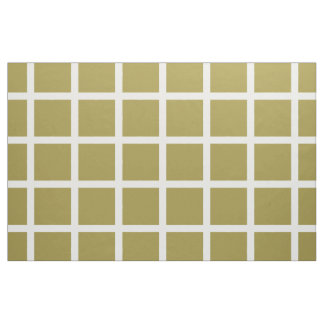 White Windowpane Stripes on Olive Green Fabric