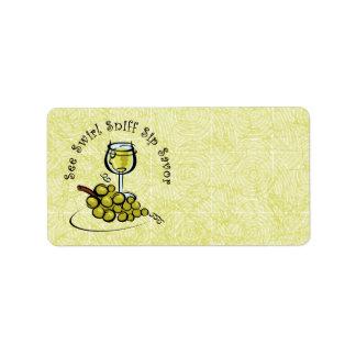 White Wine 5 S's Label