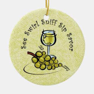 White Wine 5 S's Ornament