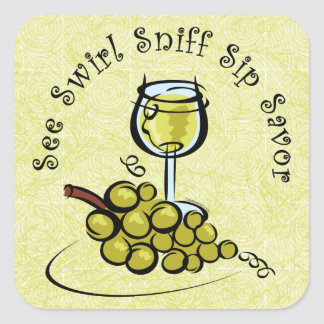 White Wine 5 S's Sticker
