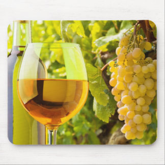 White Wine And Grapes Mouse Pad
