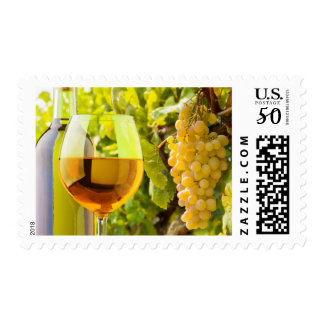 White Wine And Grapes Postage