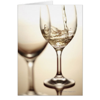 White Wine Being Poured Into Glass Card