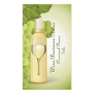 White Wine Business Card
