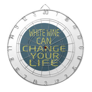 White Wine Can Change Your Life Dartboard With Darts