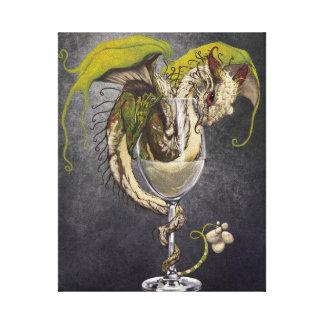 White Wine Dragon 8x10 Canvas Print